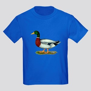 Mallard Duck Drake Kids Dark T-Shirt
