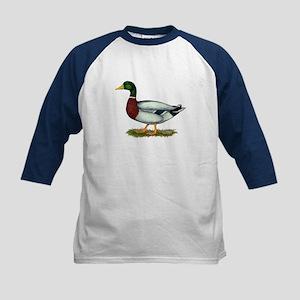 Mallard Duck Drake Kids Baseball Jersey