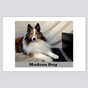 Modern Dog Large Poster