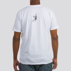 Freedom in Persian Calligraphy Fitted T-Shirt