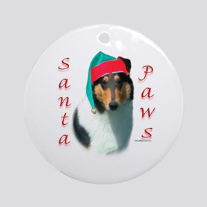 Santa Paws Collie Smooth Ornament (Round)