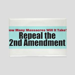 Repeal the Second Amendment Rectangle Magnet