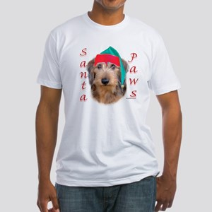 Santa Paws Wire Dachshund Fitted T-Shirt