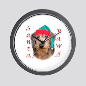 Santa Paws Wire Dachshund Wall Clock