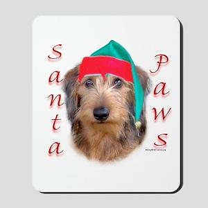 Santa Paws Wire Dachshund Mousepad