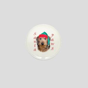 Santa Paws Wire Dachshund Mini Button