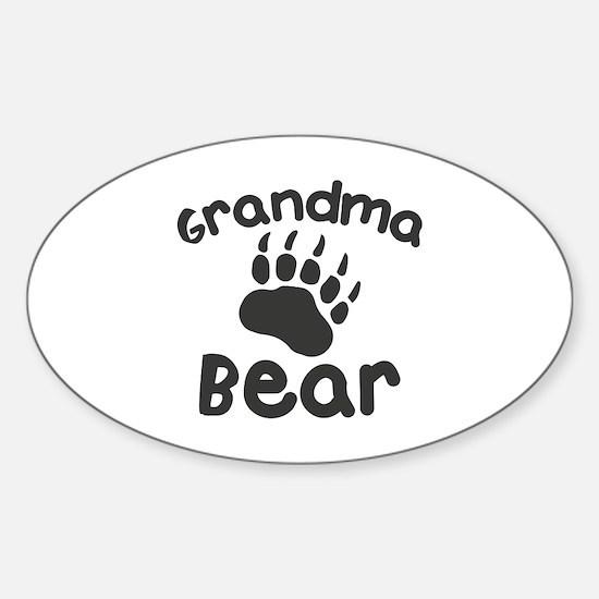 Grandma Bear Sticker (Oval)