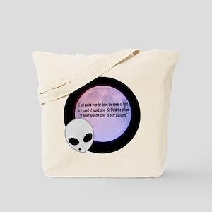 Alien Speed Joke Tote Bag