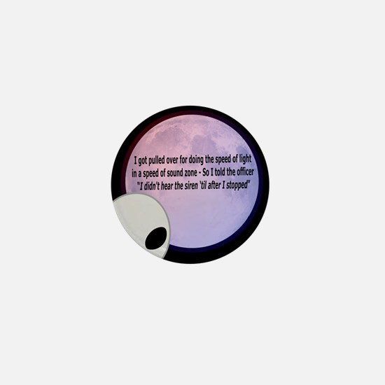 Alien Speed Joke Mini Button