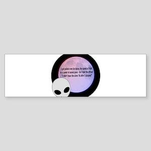 Alien Speed Joke Sticker (Bumper)