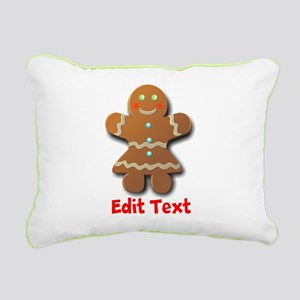 Gingerbread Rectangular Canvas Pillow