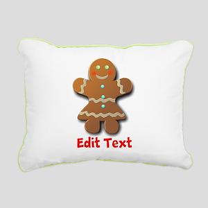 Gingerbread Rectangular Canvas Pillow