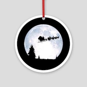 Christmas Moon Ornament (Round)