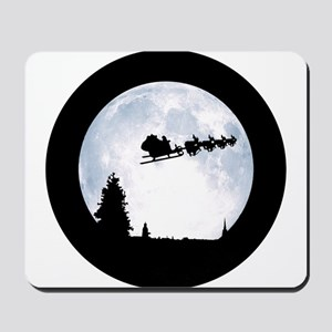 Christmas Moon Mousepad