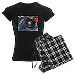 Abstract Camera Lens Women's Dark Pajamas
