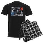 Abstract Camera Lens Men's Dark Pajamas