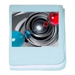 Abstract Camera Lens baby blanket