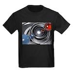 Abstract Camera Lens Kids Dark T-Shirt