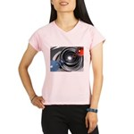 Abstract Camera Lens Performance Dry T-Shirt
