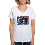 Abstract Camera Lens Women's V-Neck T-Shirt