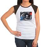 Abstract Camera Lens Women's Cap Sleeve T-Shirt