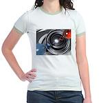 Abstract Camera Lens Jr. Ringer T-Shirt