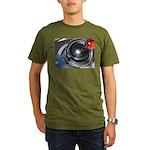 Abstract Camera Lens Organic Men's T-Shirt (dark)
