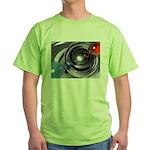Abstract Camera Lens Green T-Shirt