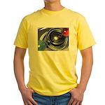 Abstract Camera Lens Yellow T-Shirt