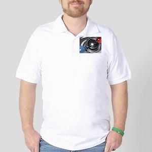 Abstract Camera Lens Golf Shirt