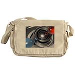 Abstract Camera Lens Messenger Bag