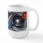 Abstract Camera Lens Large Mug