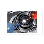 Abstract Camera Lens Sticker (Rectangle 50 pk)