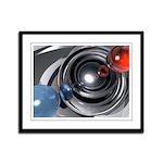 Abstract Camera Lens Framed Panel Print