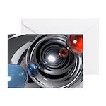 Abstract Camera Lens Greeting Card