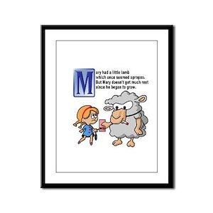 Little Lamb Framed Panel Print