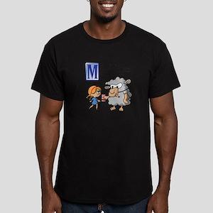 Little Lamb Men's Fitted T-Shirt (dark)