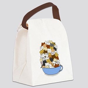 Full Cats Canvas Lunch Bag