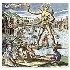 Colossus of Rhodes statue Poster