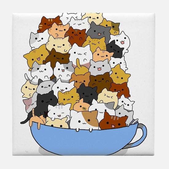 Full Cats Tile Coaster