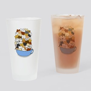 Full Cats Drinking Glass