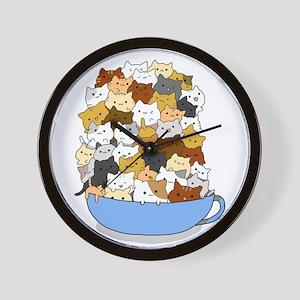 Full Cats Wall Clock