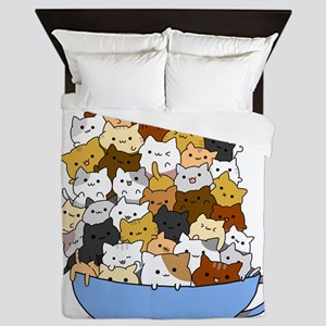 Full Cats Queen Duvet
