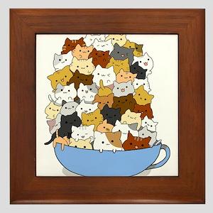 Full Cats Framed Tile