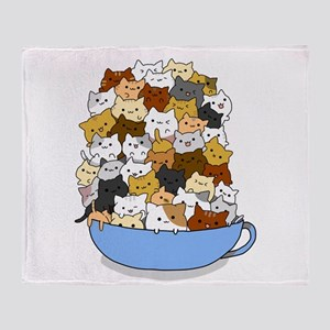 Full Cats Throw Blanket