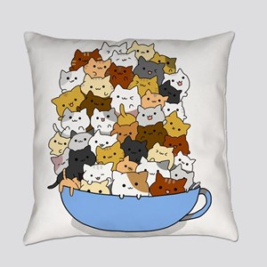 Full Cats Everyday Pillow