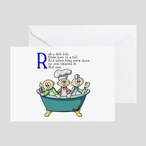 Rub A Dub Greeting Card