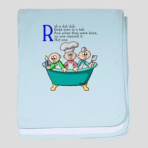 Rub A Dub baby blanket