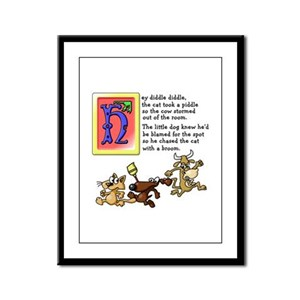 Hey Diddle Framed Panel Print