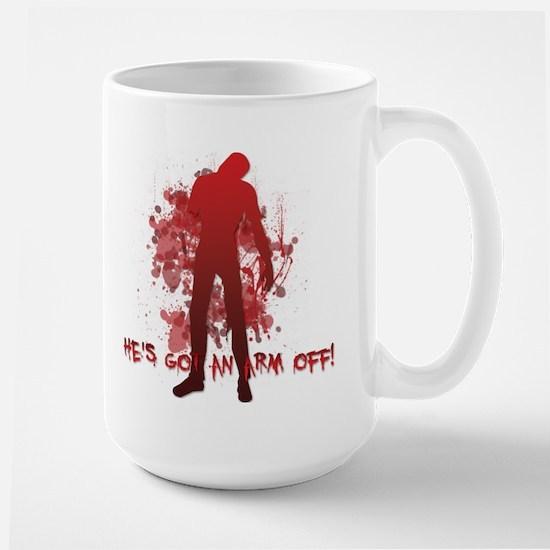 He's got an arm off! Large Mug